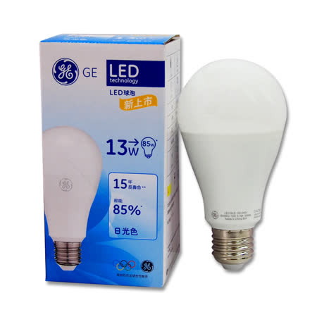 GE奇異球型LED燈泡 13W 白光/黃光 全電壓  12入組