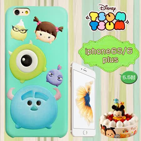 迪士尼正版授權 TSUM TSUM iPhone 6/6s plus 5.5吋 彩繪浮雕皮革手機殼(怪獸電力公司)