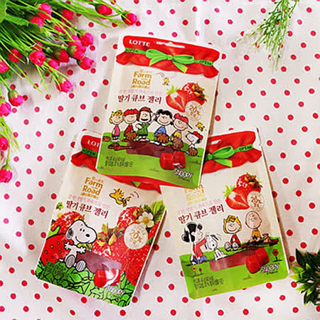 【Lotte】田園軟糖-草莓
