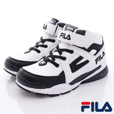 FILA頂級童鞋款-籃球運動款808Q-100白-(20cm~24cm)