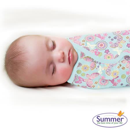 美國Summer Infant 聰明懶人育兒包巾純棉,小號-繽紛蝴蝶