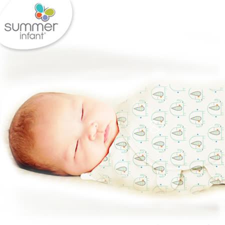 美國Summer Infant 聰明懶人育兒包巾純棉,小號-童話小象