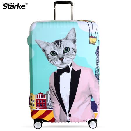 Starke 高彈性行李箱套 -紳士貓咪