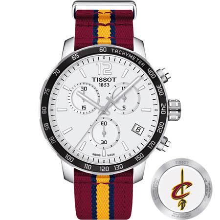 TISSOT 天梭 X NBA 騎士隊計時特別版腕錶-42mm T0954171703713
