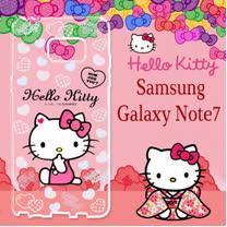 三麗鷗授權 Hello Kitty 凱蒂貓  Samsung Galaxy Note7  浮雕彩繪透明手機殼(心愛凱蒂)