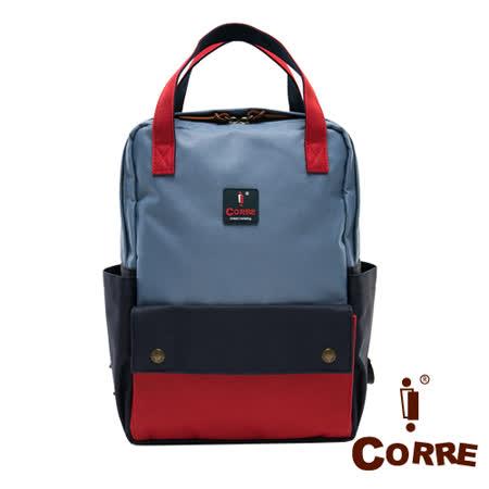 CORRE - 經典帆布款MIT寬口手提後背包-共3色