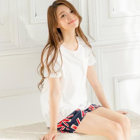 Wonderland 英式休閒居家衣褲(白)