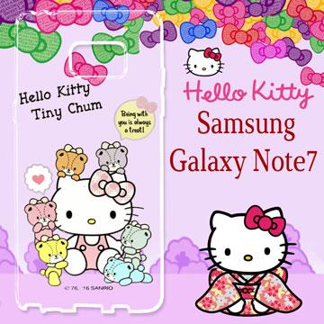 三麗鷗 Hello Kitty 凱蒂貓 Samsung Galaxy Note7 雕彩繪透