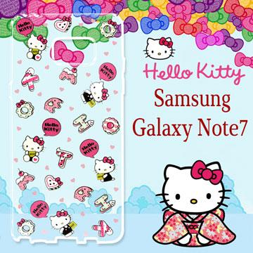 三麗鷗 Hello Kitty 凱蒂貓 Samsung Galaxy Note7 浮雕彩繪