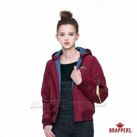 BRAPPERS 女款 女用飛行軍裝短版外套-酒紅