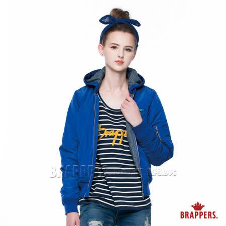 BRAPPERS 女款 女用飛行軍裝短版外套-寶藍