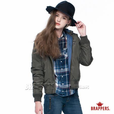 BRAPPERS 女款 女用飛行軍裝短版外套-軍綠