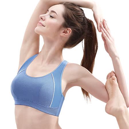 【黛安芬】運動內衣 輕機能入門運動背心胸罩 M-EEL(清爽藍)