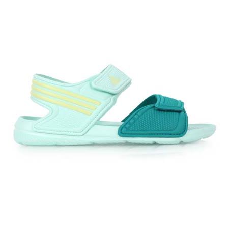 (童) ADIDAS 男女中運動涼鞋 - 海灘 戲水 游泳 愛迪達 湖水綠黃