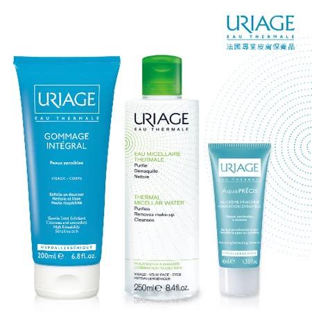 優麗雅全效保養潔膚水250ml+水動力凝乳40ml+冰晶去角質200ml