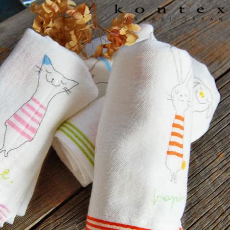 【クロワッサン科羅沙】日本今治~Kontex 細紋動物浴巾 70*130cm