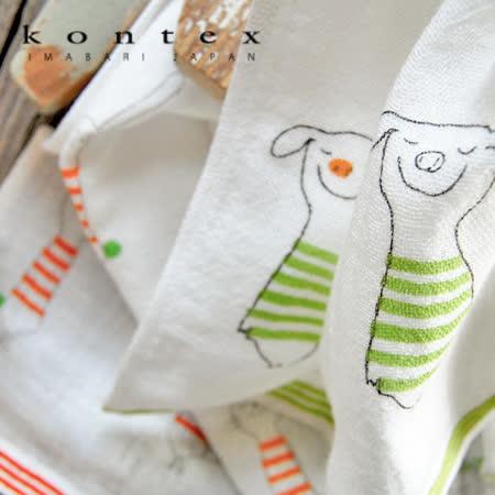 【クロワッサン科羅沙】日本今治~Kontex 細紋動物毛巾 33*90cm