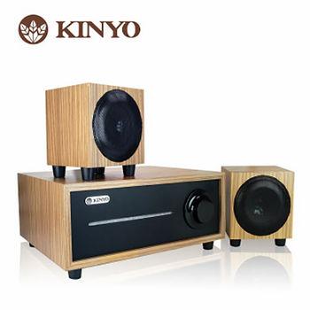 KINYO 2.1聲道全木質音箱KY-1601