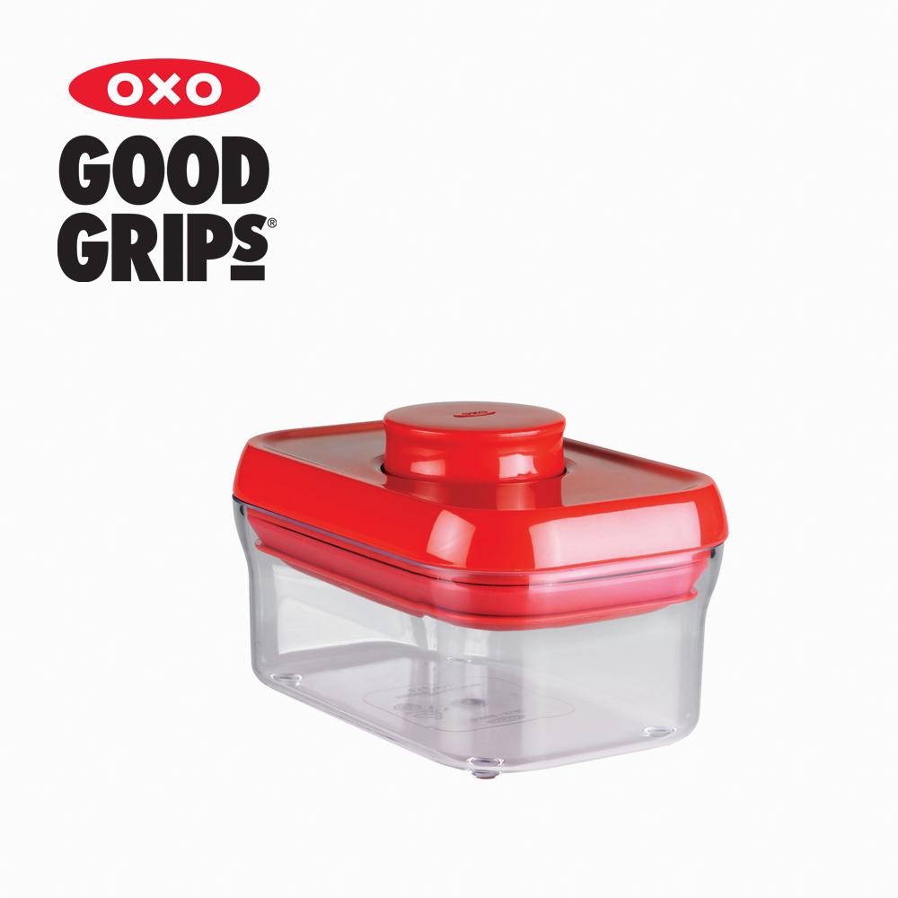 【美國OXO】POP 保鮮收納盒 (紅色長方 500ml) - 兩入組
