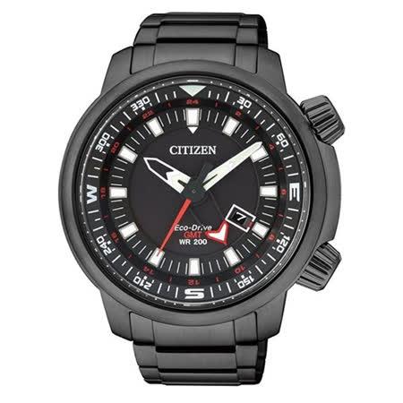 CITIZEN 星辰 -Promaster-領先世界光動能運動腕錶/黑-48mm-BJ7086-57E