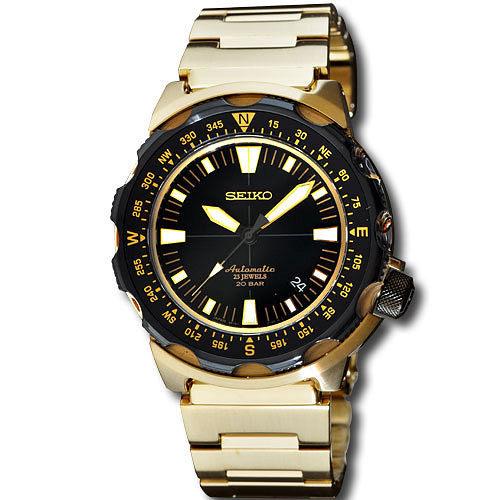 SEIKO 6R15 征服者 土豪金 機械腕錶~金 6R15~01G0K^(SARB048