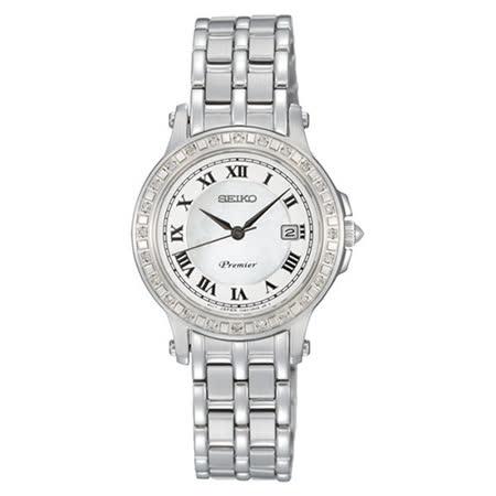 SEIKO Premier 法國風情 羅馬晶鑽 時尚腕錶 7N82-0HG0S(SXDE57J1)