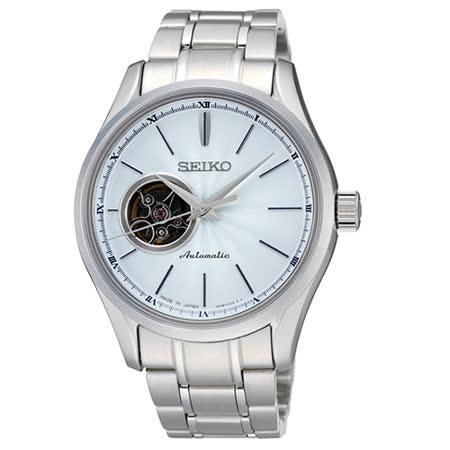 SEIKO 精工 Presage 4R38 開心系列機械腕錶(SSA101J1)-淺藍/40mm/4R38-00E0B