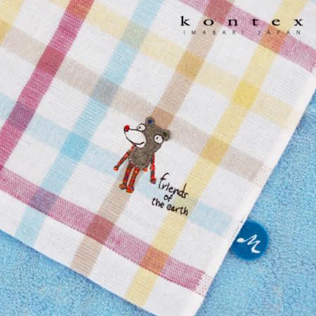 【クロワッサン科羅沙】日本今治~Kontex彩格動物浴巾 60*120cm