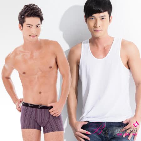 【BeautyFocus】(任選1件199元)台灣製男吸排上衣/七片式平口褲系列