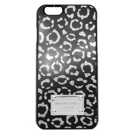MICHAEL KORS 鐵牌豹紋造型I PHONE6(S)手機殼(銀黑)