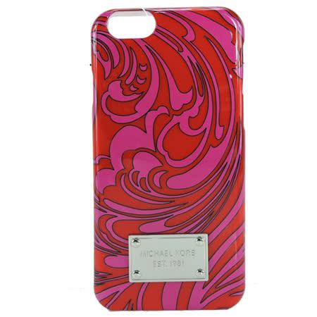 MICHAEL KORS 鐵牌花紋造型IPHONE 6(S)手機殼(玫瑰紅)