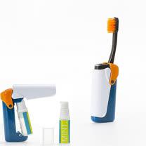 【義大利BANALE】MINI TOOTHBRUSH 隨身旅用牙刷組 - ORANGE