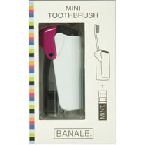 【義大利BANALE】MINI TOOTHBRUSH 隨身旅用牙刷組 - 透明&Purple