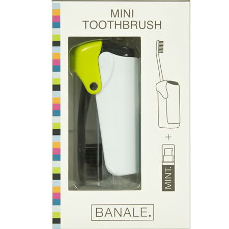 【義大利BANALE】MINI TOOTHBRUSH 隨身旅用牙刷組 - 透明&Green