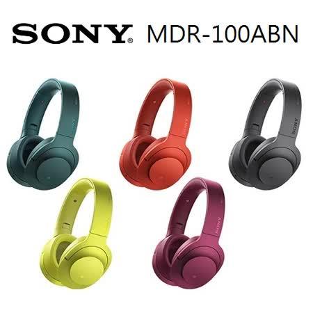 ※加送充電隨身小風扇※SONY MDR-100ABN h.ear on Hi-Res降噪藍牙耳機