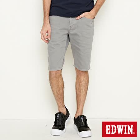 EDWIN 503 基本五袋短色褲-男-銀灰