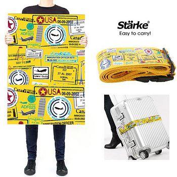 Starke 密碼鎖行李箱綁帶/ 束帶 LS330旅遊足跡 010002-04