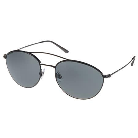 GIORGIO ARMANI 太陽眼鏡 摩登圓飛官款 (黑) #GA6032J 300187