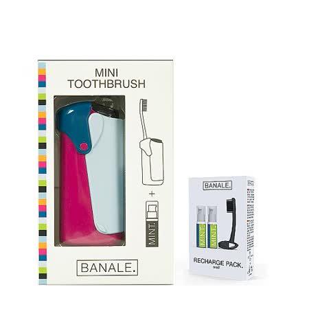 【義大利BANALE】MINI TOOTHBRUSH 隨身旅用牙刷組 - IRIS + 補充包