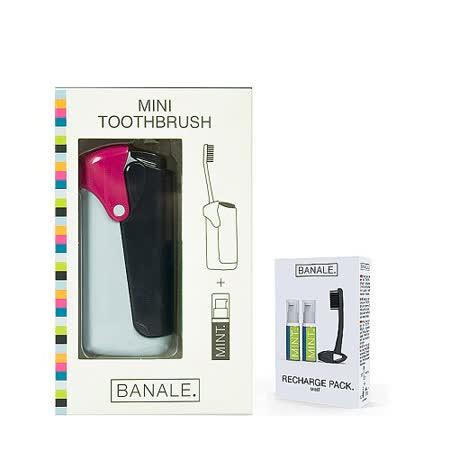 【義大利BANALE】MINI TOOTHBRUSH 隨身旅用牙刷組 - QUEEN + 補充包