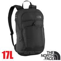 【美國 The North Face】新款 FLYWEIGHT 輕量抗撕裂多功能後背包17L(僅173g 可折疊收納.當攻頂包 書包).適登山健行 自助旅行/CJ2Z 瀝灰