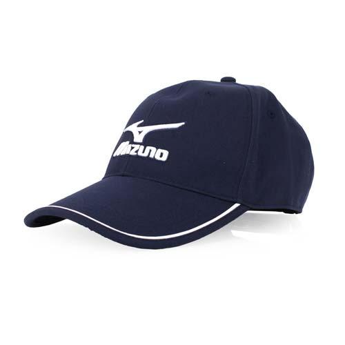 MIZUNO 運動棉帽-帽子 防曬 百 威慢跑 路跑 美津濃 丈青白 F