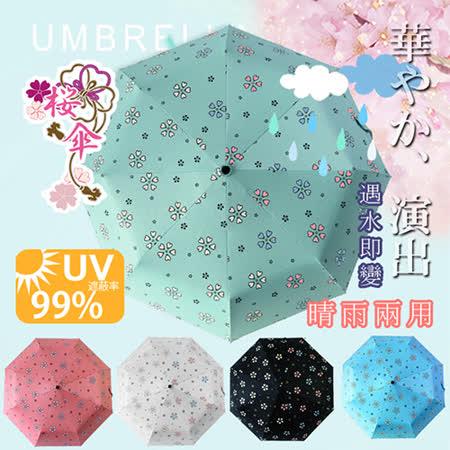 【FL+】超大自動開合碳纖維抗UV變色晴雨傘(FL-029)-120公分