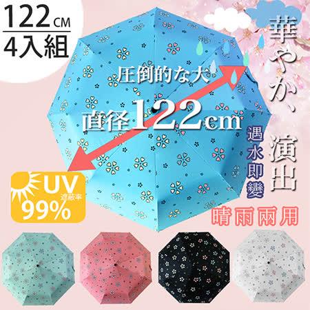 (任選4入)【FL+】超大自動開合碳纖維抗UV變色晴雨傘(FL-029)-120公分