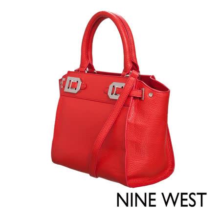 NINE WEST--荔枝皮革方型小包
