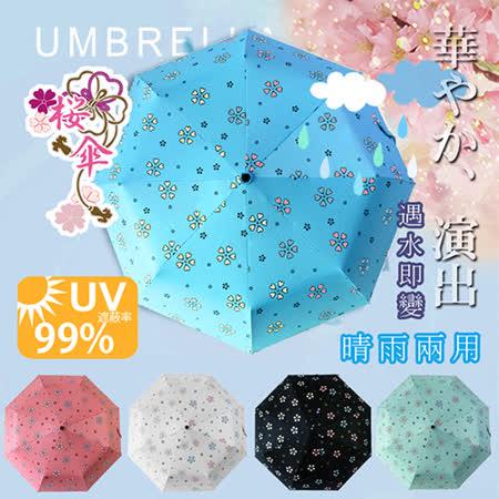 【FL+】自動開合碳纖維抗UV變色晴雨傘(FL-028-B)藍色-96公分
