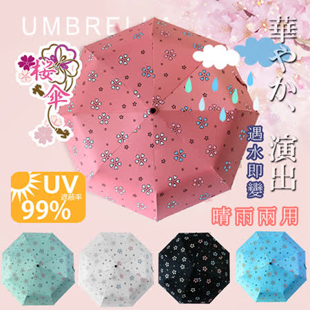 【FL+】自動開合碳纖維抗UV變色晴雨傘(FL-028-PI)粉色-96公分