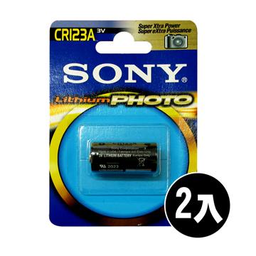SONY CR123A CR~123 一次性鋰電池 3V 貨 ^(2顆入^)