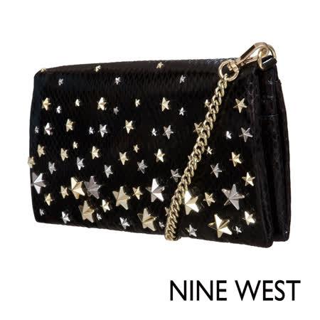 NINE WEST--唯美星辰肩背包--閃耀黑
