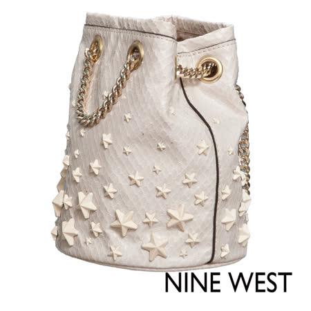 NINE WEST--唯美星辰小圓筒包--耀眼白